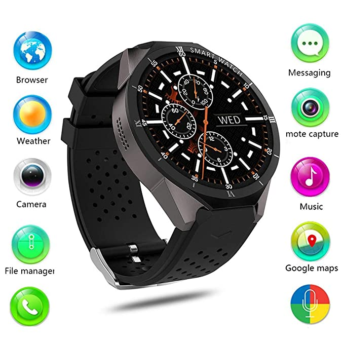 Amazon.com: 3G WIFI Phone Call GPS Smart Watch, App ...