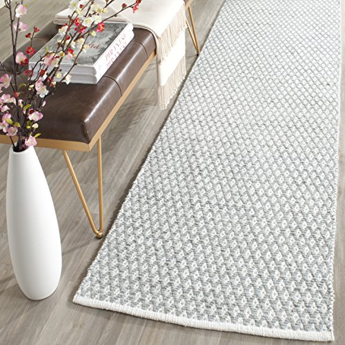 Runner Wool Gray - Safavieh Boston Collection BOS685E Handmade Grey Cotton Runner (2'3