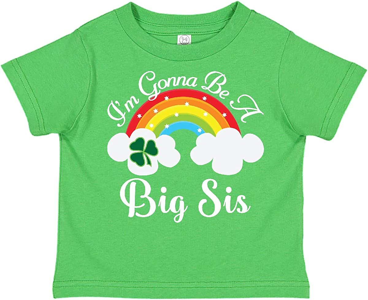 inktastic Big Sis St Patricks Irish Sister Announcement Toddler T-Shirt