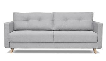 Divano letto posti design in stile scandinavo con contenitore