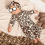 Newborn Baby Girl Clothes Leopard Long Sleeve