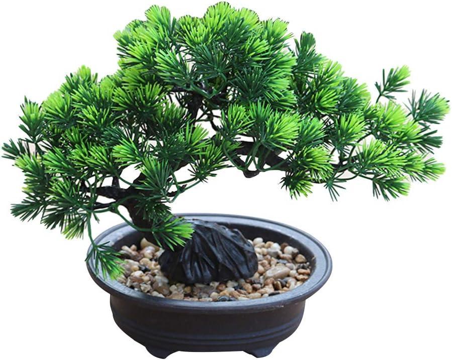 Amazon Com Lucare 1pc Artificial Plant Pine Tree Zen Party Home Hotel Desk Bonsai Decor Artificial Bonsai Sports Outdoors