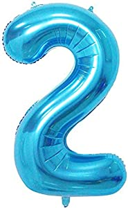 Tellpet Blue Number 2 Balloon, 40 Inch
