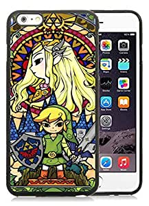 Legend Of Zelda Black iPhone 6 Plus 5.5 inch TPU Cellphone Case Luxurious and Newest Design