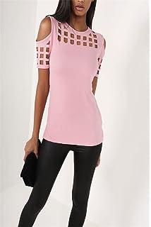 spyman New Summer Blusas Sexy Shirts Slim Hollow Out Shirts Plus Size Block Cold Shoulder Blouse