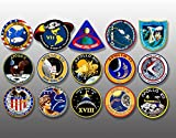 American Vinyl Sheet 1.5 inch Tall All Apollo Mission Logos Stickers (NASA Scrapbook Laptop)