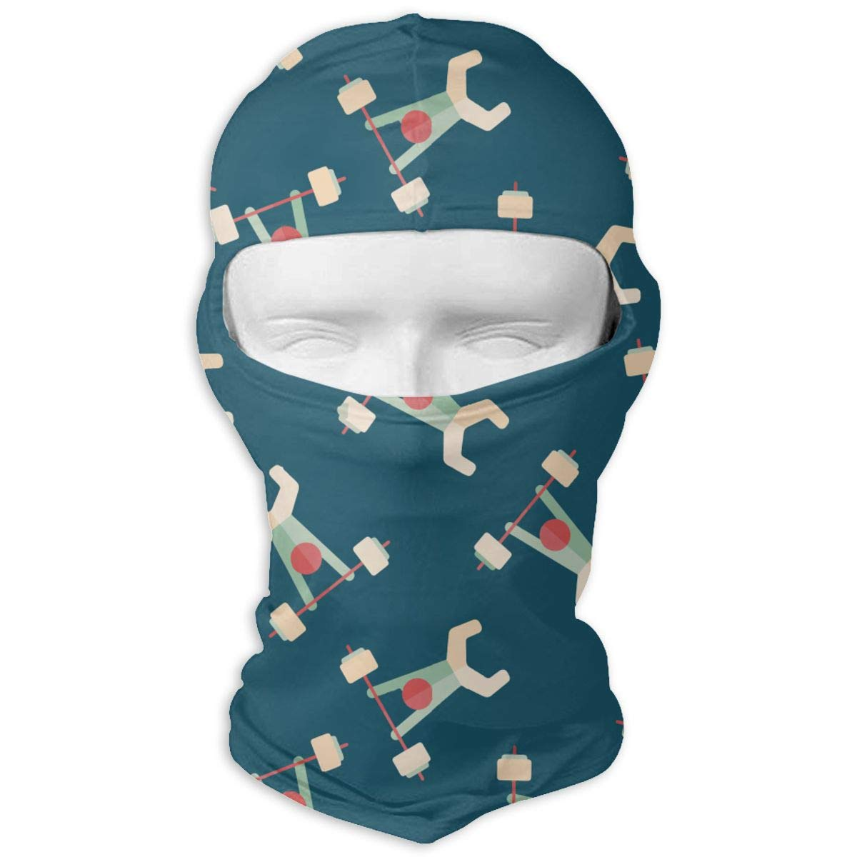Weight Lifting Tube Balaclava Winter Ski Mask Men & Women Windproof Beanie Hat Motorcycle Outdoors Ski Mask Head Wrap Adjustable Neck Gaiter Protection