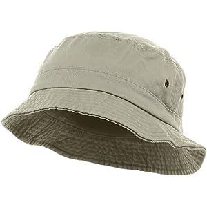 dfb28941dbf Amazon.com  Cobra Cotton Bucket Hat Great for Golf Stone-Large ...