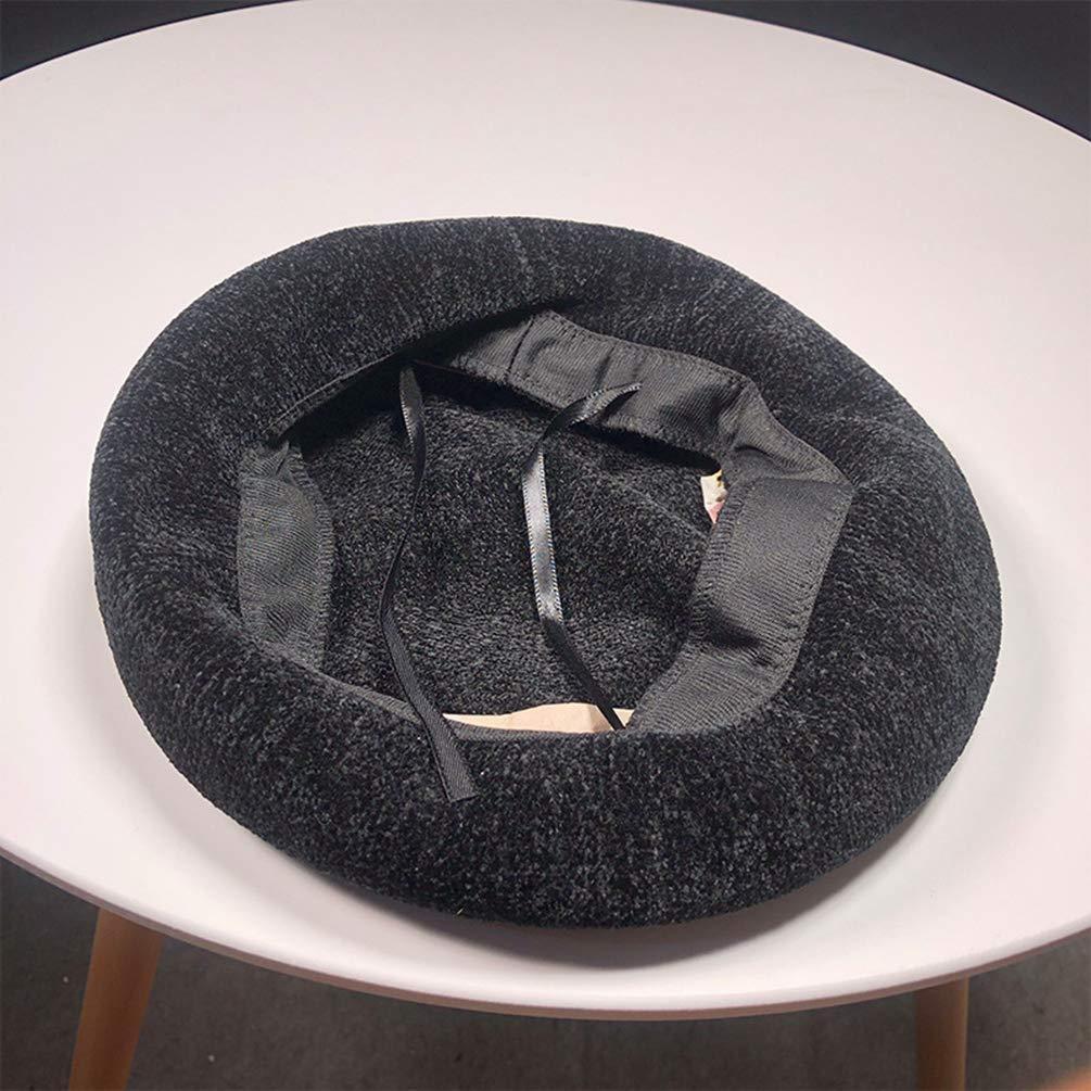 Byqny Tendencia Gorra Boina Mujer Octogonal Berets Caliente Invierno Oto/ño Casual Sombrero del Pintor Sombrero de Calabaza