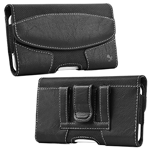 Galaxy Note Case, Dreamwireless Folio Flip Leather [Card Slot] Wallet Flap Pouch Belt Clip Case Cover For Samsung Galaxy Note, Black