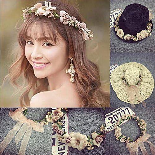 Women Boho Flower Floral Hairband Headband Crown Party Bride Wedding Beach JNIU