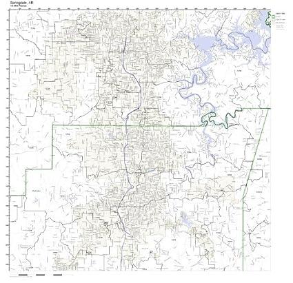 Amazon.com: Springdale, AR ZIP Code Map Laminated: Home & Kitchen