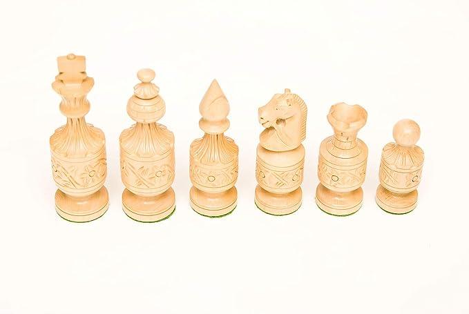 247 Golden Rosewood & Boxwood 4 Chess Set