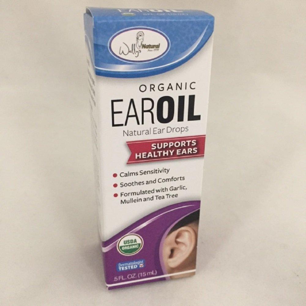 Wally's Natural Organic Ear Oil, .5oz. Per Bottle (3 Pack)