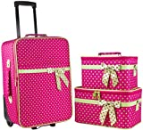 Ever Moda 3-Piece Carry On Luggage Set with Wheels for Travels