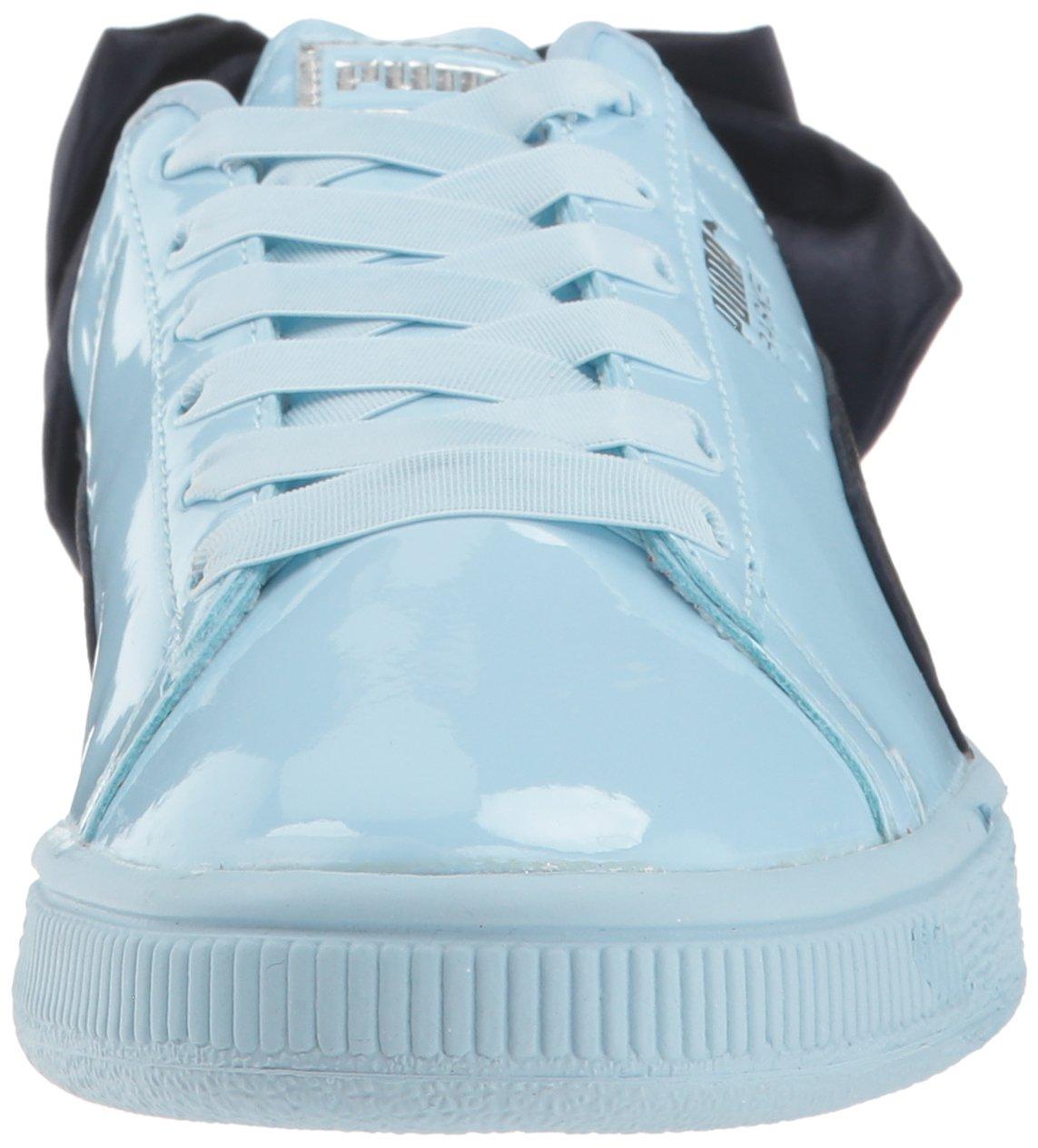 PUMA Unisex-Kids Basket Bow Patent Sneaker, Cerulean-Peacoat, 12 M US Little Kid by PUMA (Image #4)