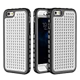 iPhone 6 Plus/6S Plus Case, Hybrid Heavy Duty Shockproof Full-Body Protective Case with Dual Layer [Hard PC+ Soft Silicone] Impact Protection for Apple iPhone 6S Plus 5.5 inch. (New Silver Black)