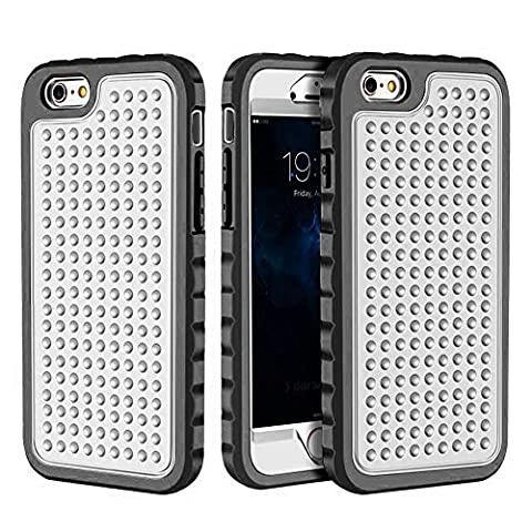 iPhone 6 Plus/6S Plus Case, Hybrid Heavy Duty Shockproof Full-Body Protective Case with Dual Layer [Hard PC+ Soft Silicone] Impact Protection for Apple iPhone 6S Plus 5.5 inch. (New Silver (Motorola Droid Mini Speck Case)