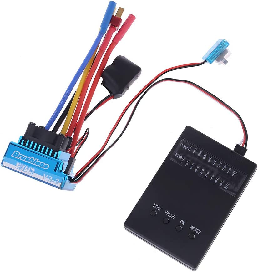 siwetg Waterproof 45A 60A 80A 120A Brushless ESC Electric Speed Controller Dust-proof for 1//8 1//10 1//12 RC Car Crawler RC Boat Part