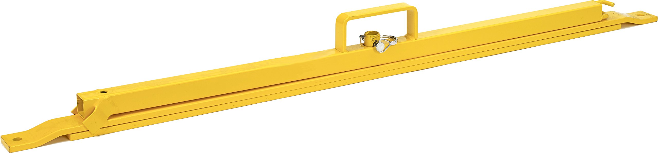 Mutual Industries 15903-0-0 Osha Perimeter Folding Stanchion Stand, 39'', Yellow (Pack of 2)