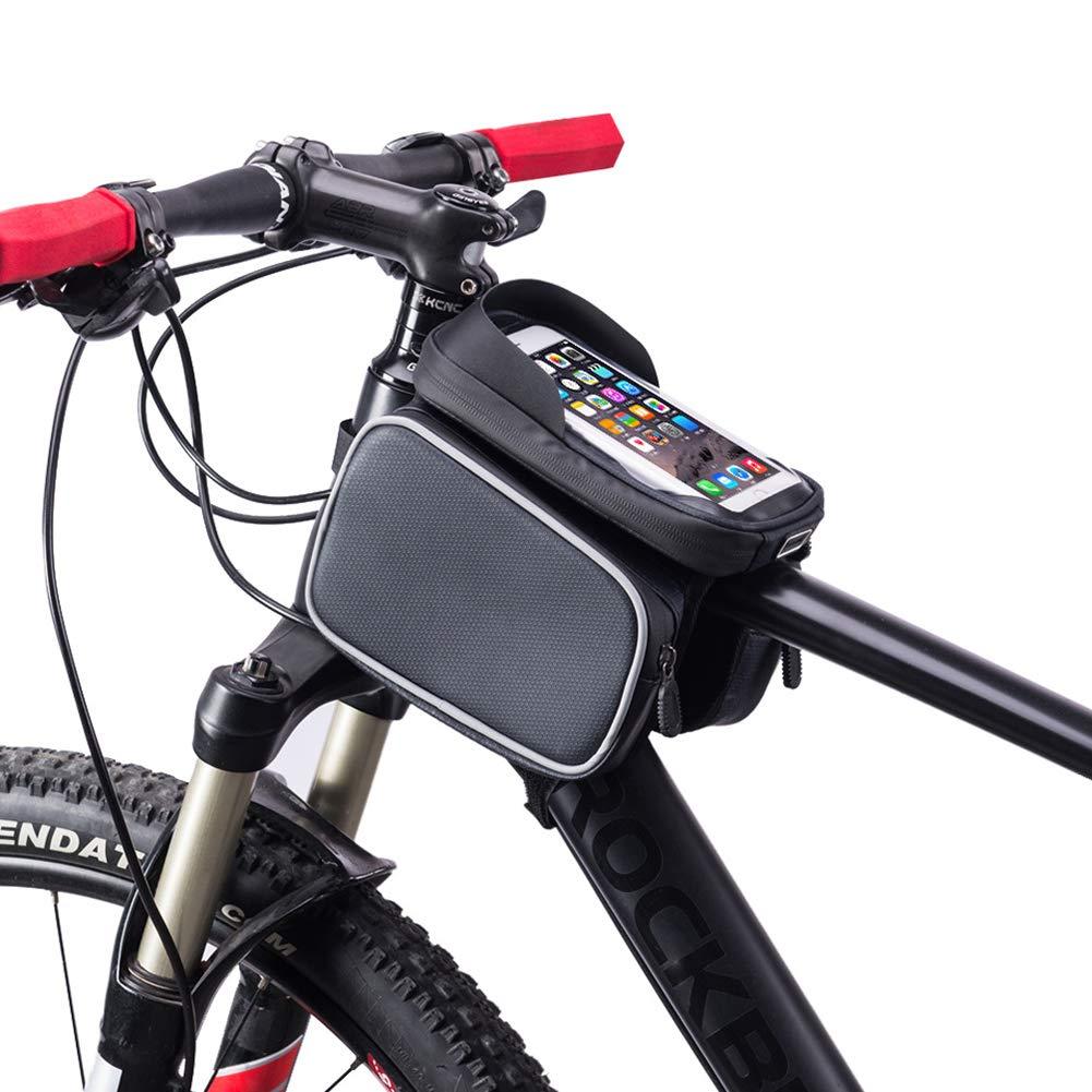SHKY Bolsa de Cuadro de Bicicleta - Soporte de teléfono para ...