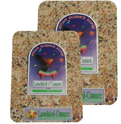 Volkman Avian Science Lovebird - Conure 4lb (2) (Medium Sunflower Chips)