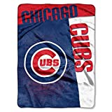 The Northwest Company MLB Chicago Cubs Strike Raschel Blanket, 60-Inch by 80-Inch