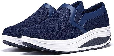 Xinantime Zapatillas Deporte Mujer Cuña Sin Cordones Plataforma Ante Piel Sneakers Planos Mocasines Calzado Comodas Fashion Respirable Casual Zapatillas de Deporte Zapatillas de Plataforma: Amazon.es: Ropa y accesorios