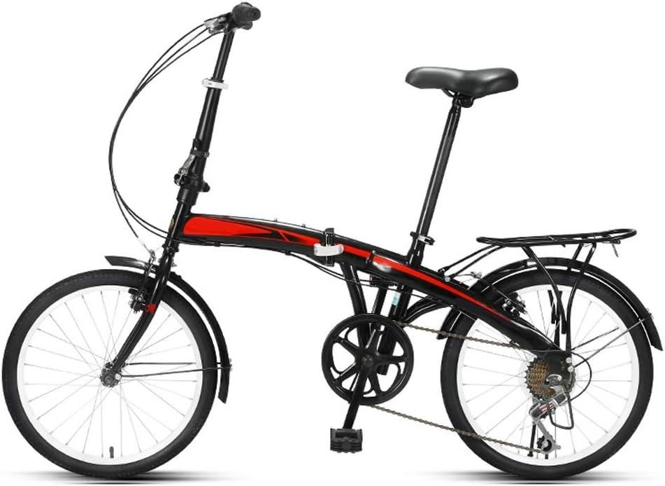 BOT Bicicleta Plegable for Adultos Hombres Y Mujeres 7 Velocidad ...