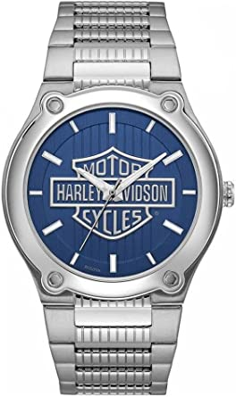Harley Davidson Brazalete de Acero Inoxidable de marcación Azul con Logo 76A159