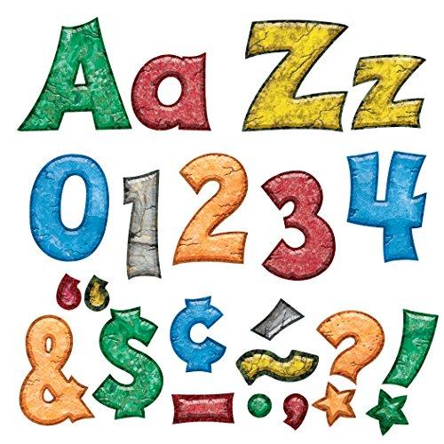 """TREND enterprises, Inc. Rock 'n Stones 4"""" Friendly Combo Ready Letters -  T-79846"""