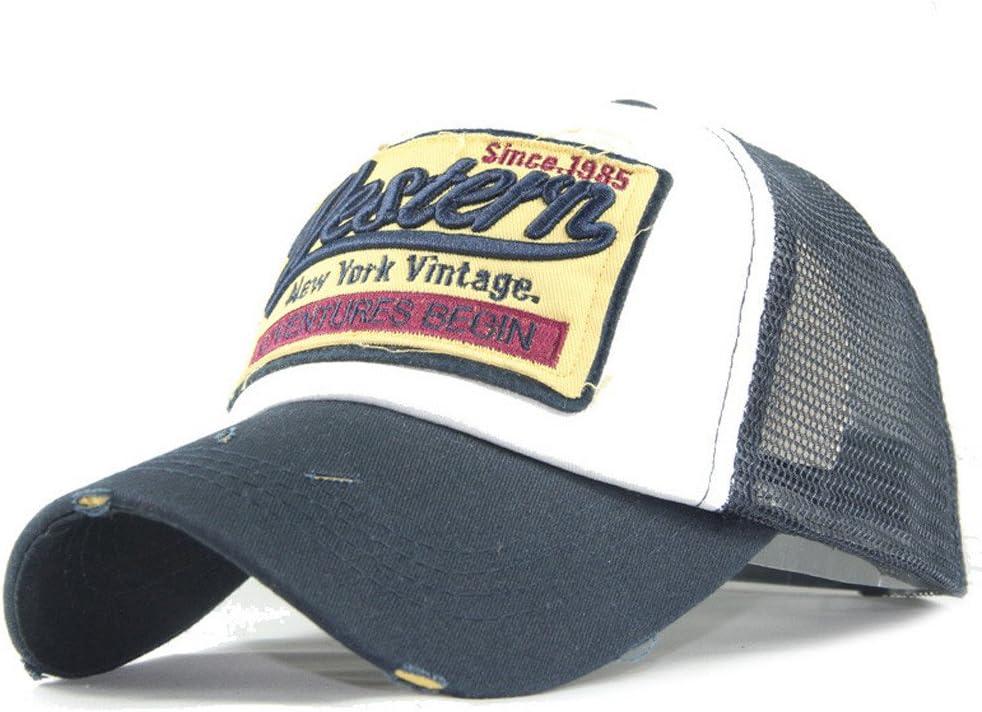 gorras beisbol, Sannysis Gorra para hombre mujer Sombreros de verano gorras de camionero de Hip Hop Impresión bordada, talla única (Armada): Amazon.es: Deportes y aire libre
