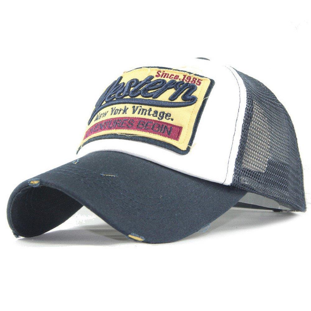 Amazon.com  Gifts For Men ! Charberry Mens Embroidered Letter Mesh Baseball  Cap Visor Summer Cap Mesh Hats For Men Women (Navy)  Baby ff0c653896d