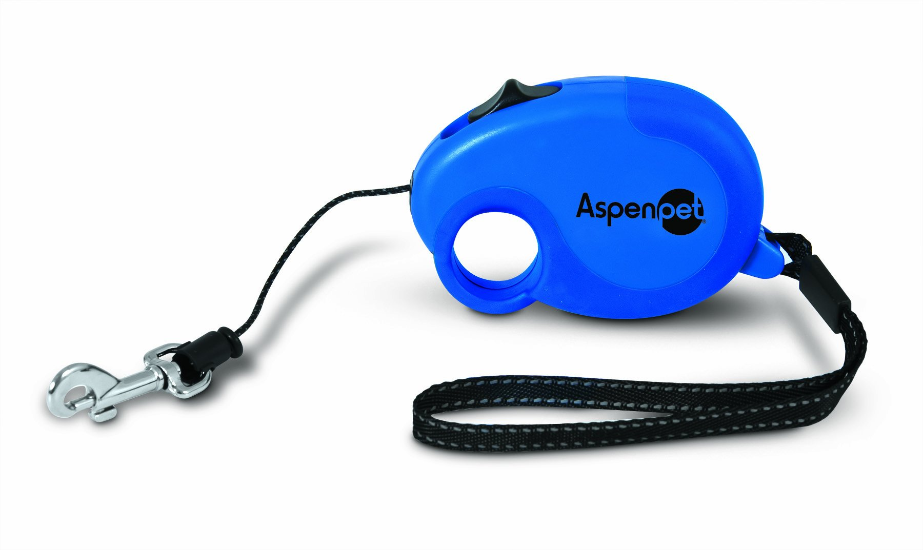 Aspen Pet 10478 Palm Retractable Pet Leash, Blue
