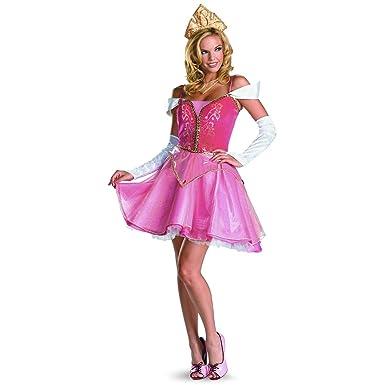Superb Disguise Sassy Disney Aurora Prestige Adult Costume   Size 4 6: Amazon.co.uk:  Clothing