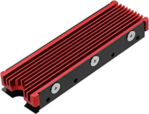 NVMe Heatsinks for M.2 2280mm SSD Double-Sided Cooling Design(red)
