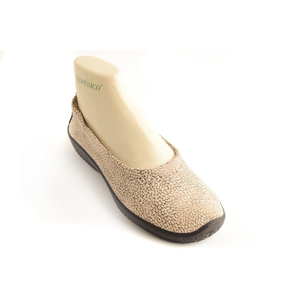 Arcopedico 4451 L15D Womens Flats Shoes B01LX38PXG 36 EU Beige With Gold