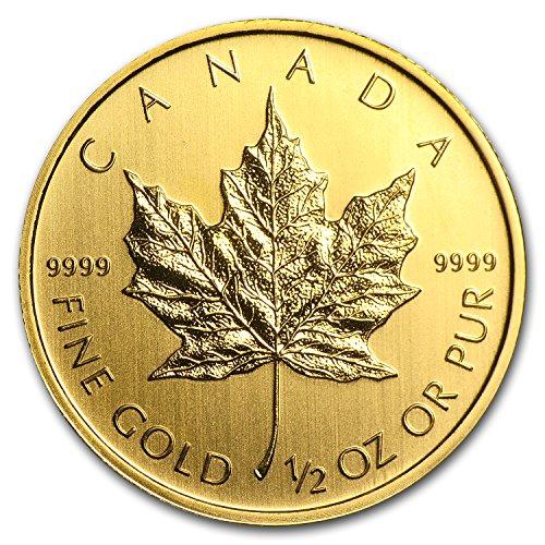 1979 CA - Present Canada 1/2 oz Gold Maple Leaf (Random Year) 1/2 OZ About Uncirculated