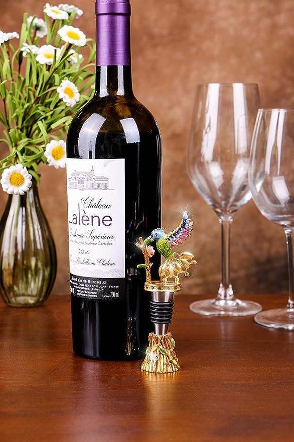 Compra Eazyhurry Europea de aleación de Zinc Vino Sacacorchos de Acero Inoxidable con Rhinestone Verde pájaro Decorado abridor de Botellas de Vino en ...
