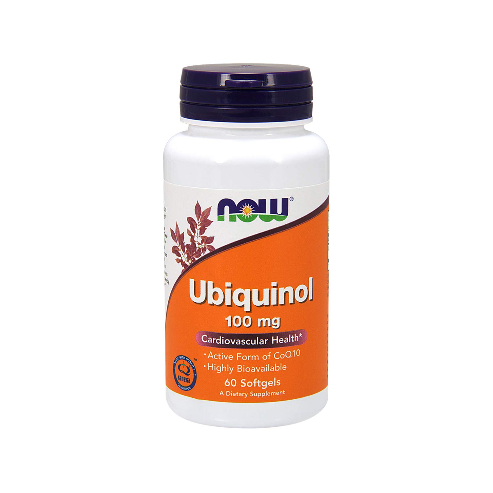 NOW Supplements, Ubiquinol 100 mg, High Bioavailability (The Active Form of CoQ10), 60 Softgels by NOW