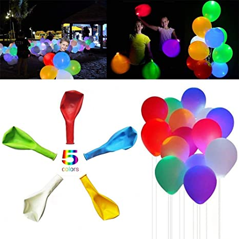 20 packs LED Globos parpadeantes, Premium de Mixed de ...
