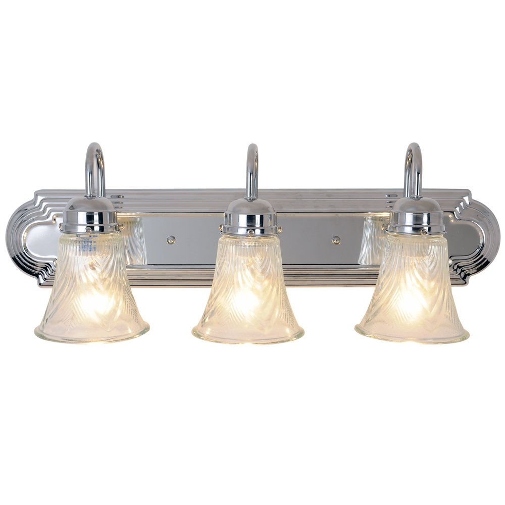 Monument 671735 Decorative Vanity Fixture, Polished Chrome, 24 In.