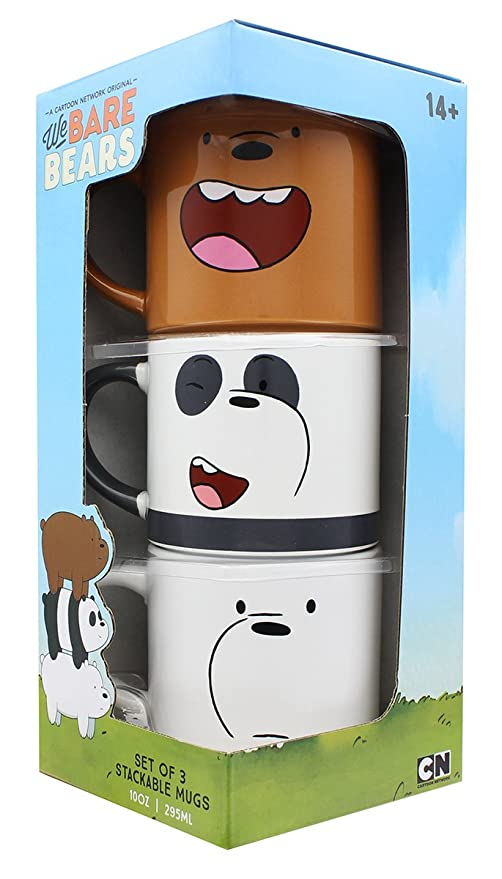 Just Funky We Bare Bears 10oz Stackable Mugs, Set of 3: Amazon.es: Juguetes y juegos