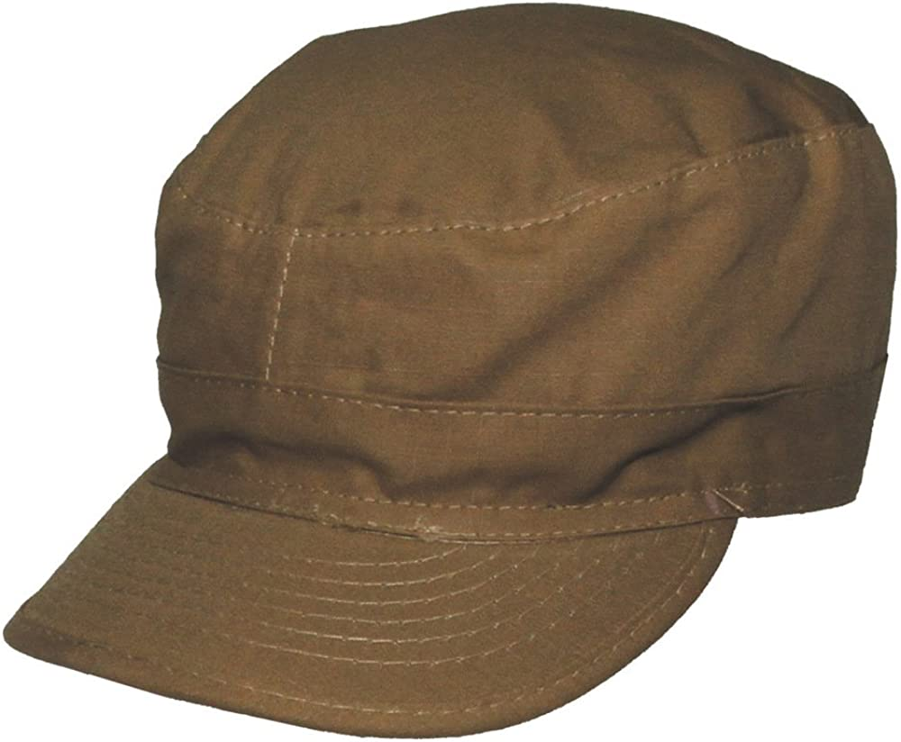 US Khaki BDU CAP All Sizes American Army Style Coyote Field Hat Ripstop Military