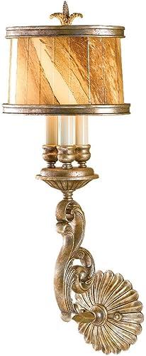 Feiss WB1484OSL 3-Bulb Wall Sconce, Oxidized Silver Leaf Finish
