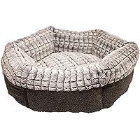 Rosewood 40 Winks Tweed/Plush Bed, 19 Inch
