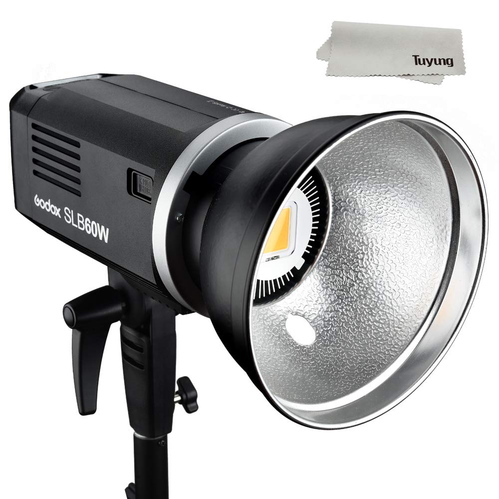Godox SLB60W 60Ws 5600K ± 200K White Lithium Battery 11.1V 8700mAH Version LED Video Light Studio ContinuousLamp for Camera DV Camcorder