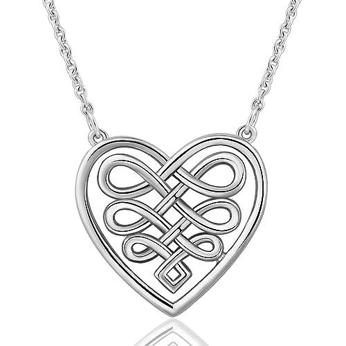 Amazon Com Aeonslove 925 Sterling Silver Celtic Love Knot Pendant