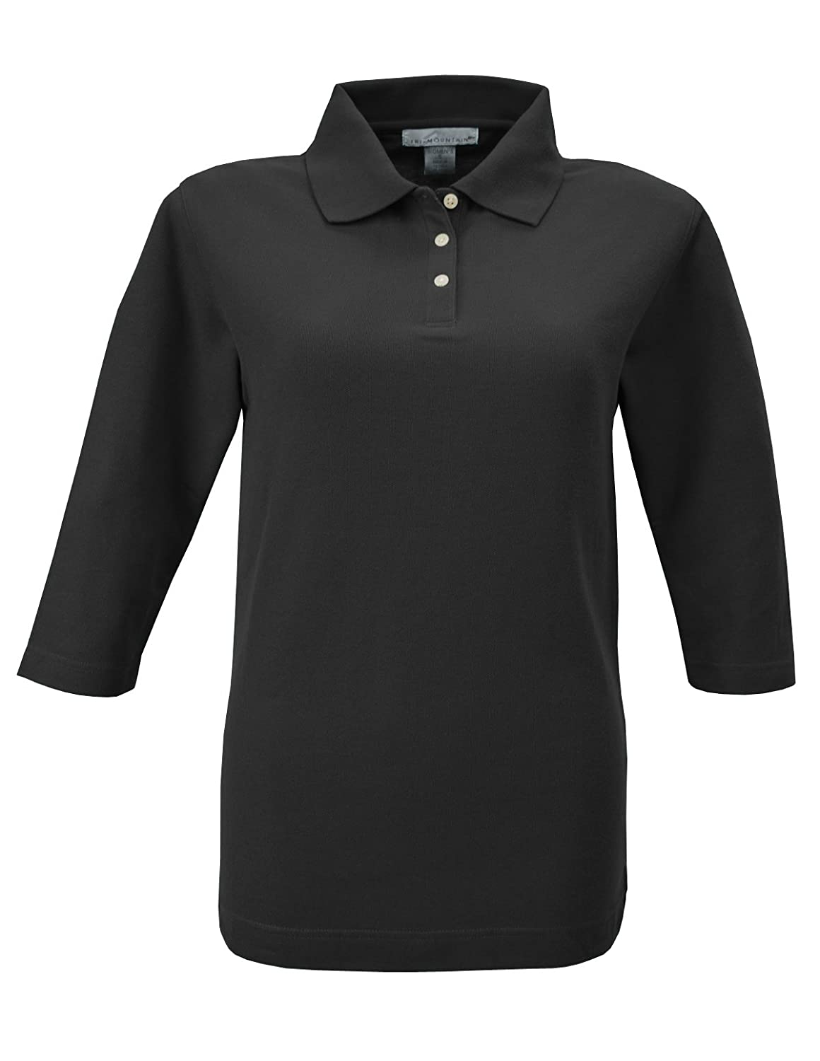 Tri Mountain Womens 34 Sleeve Pique Knit Golf Shirt At Amazon