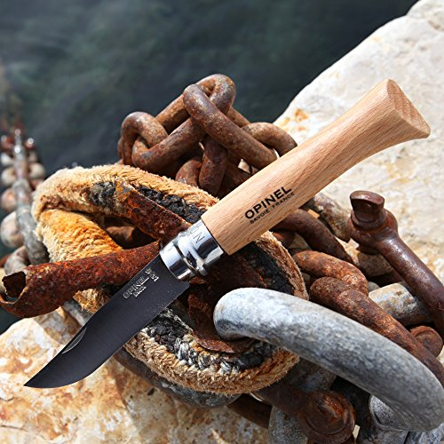 Opinel No 06 Stainless Steel Folding Everyday Carry Locking Pocket Knife with Oak Wood Handle by Opinel (Image #4)